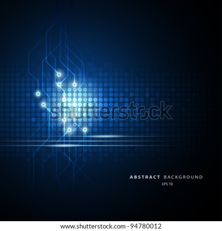 Abstract Technology circuit background vector illustration