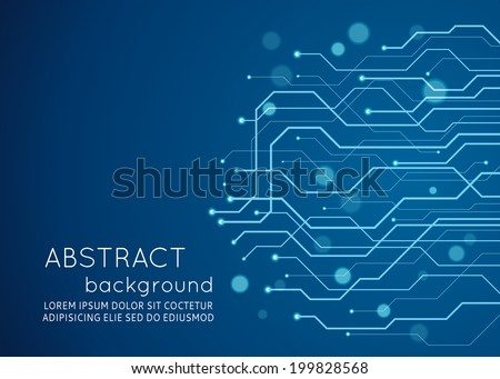 abstract technology circuit