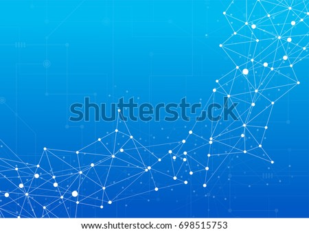 Abstract technology communication design innovation concept background. Vector illustration