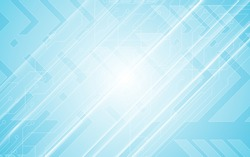 abstract technology communication innovation concept circuit pattern arrow speed  movement design blue background