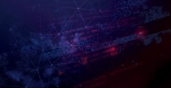 Abstract Technology Dark Background. Cyber space backdrop
