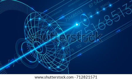 Abstract technology digital communication background. The digital data is transmitted via satellite Internet. VECTOR