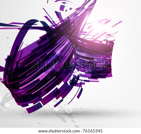 Stock photo of abstract technical flyer background for design