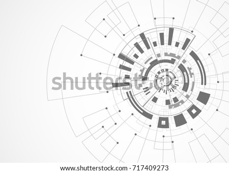 Abstract technology futuristic network with dark background. Vector illustration
