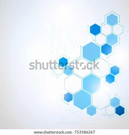 Abstract Technology hexagon background, Vector illustration futuristic shape science style