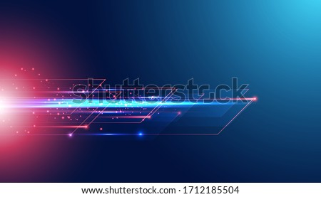 Abstract technology hi tech background concept speed movement motion blur moving fast in the light. Stockfoto ©