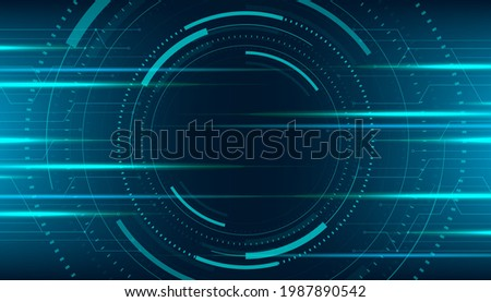 Abstract technology horizontal motion style concept. Digital technology connection background.