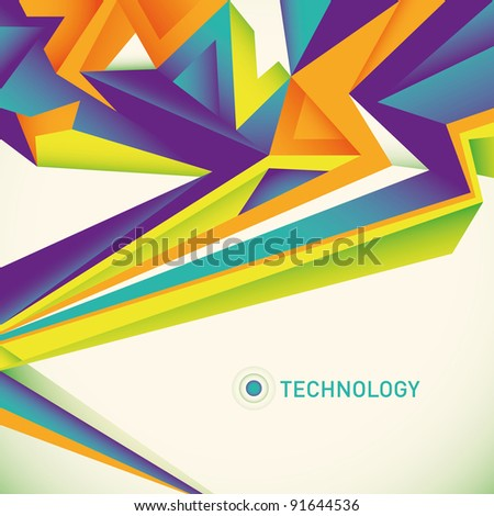 abstract technology layout