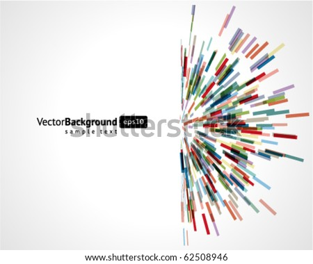 Abstract technology lines vector background. Eps 10
