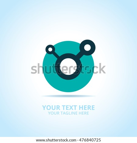 Abstract technology logo, design concept, emblem, icon, flat logotype element for template.