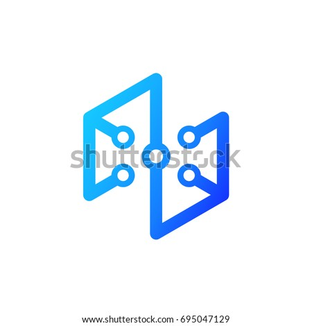 abstract technology logo template