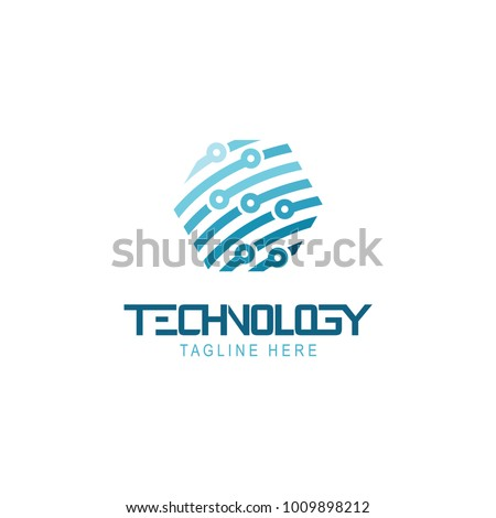 Abstract technology logo template vector icon