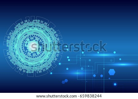 abstract technology on blue