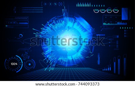 abstract technology ui