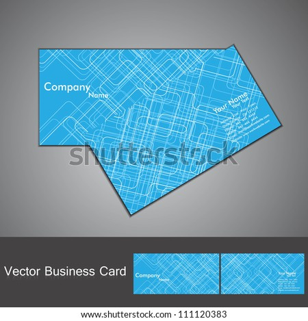 abstract tecnology business card set vector