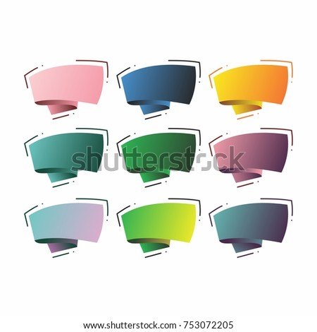 stock-vector-abstract-template-banner-with-ribbon-in-the-style-of-origami