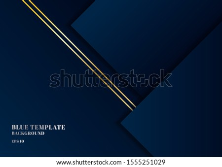 abstract template dark blue
