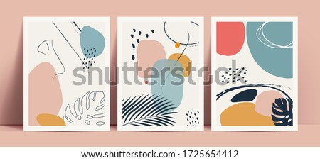 abstract terrazzo style