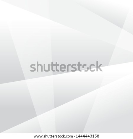 Abstract texture geometric White and gray color technology modern futuristic background, vector illustration #1444443158