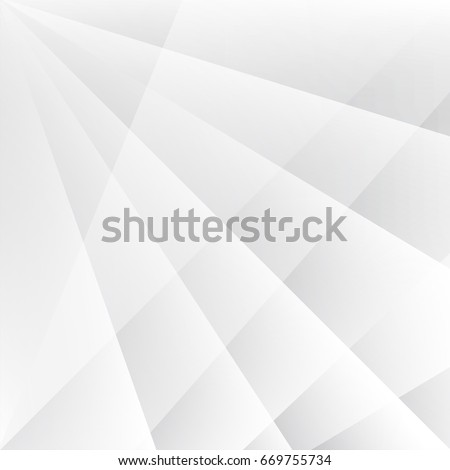 Abstract texture geometric White and gray color technology modern futuristic background, vector illustration #669755734