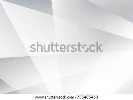 Abstract texture geometric  White and gray color technology modern futuristic background, vector illustration #735405463