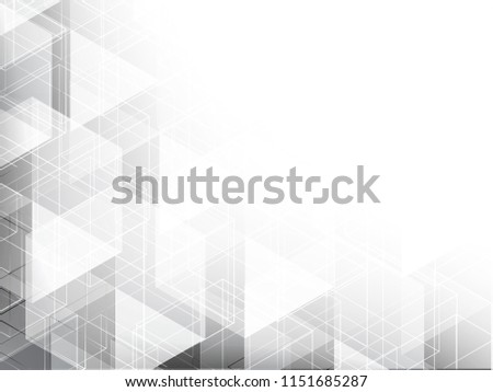 Abstract texture geometric white and gray with space modern design on Light gray background, vector illustration #1151685287