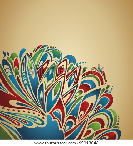 abstract  thanksgiving background with stylized turkey tail - country grunge style