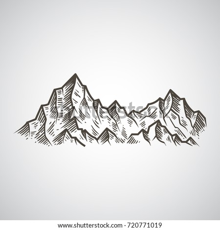 Abstract The Mountains Hand Draw Ez Canvas
