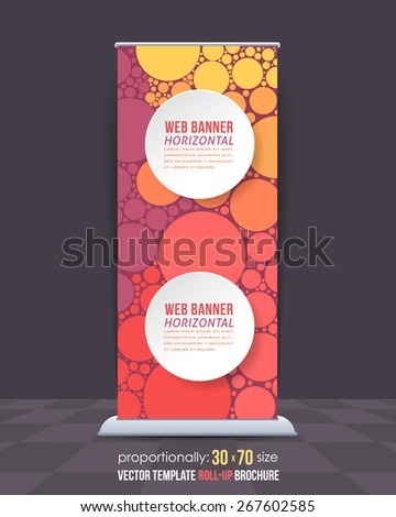Abstract Theme Business Roll-Up Banner Design, Advertising Vector Template