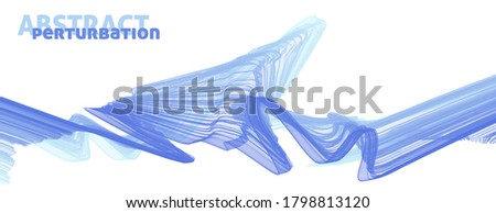 Abstract thin blue lines perturbations on white background. Vector graphics Photo stock ©
