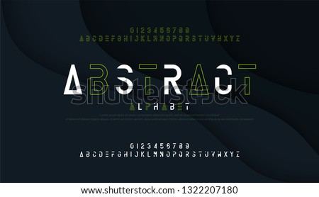 Digital Font And Number - Download Free Vector Art, Stock Graphics