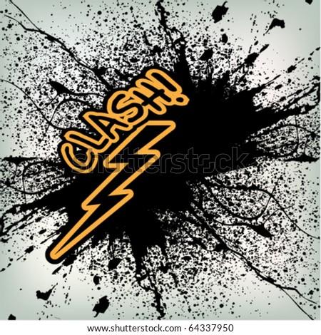 abstract thunder grunge background design