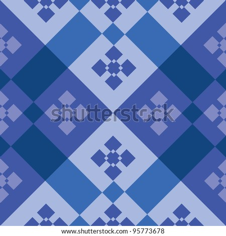 abstract tiles floorboard seamless pattern - illustration