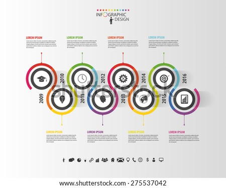 abstract timeline infographic