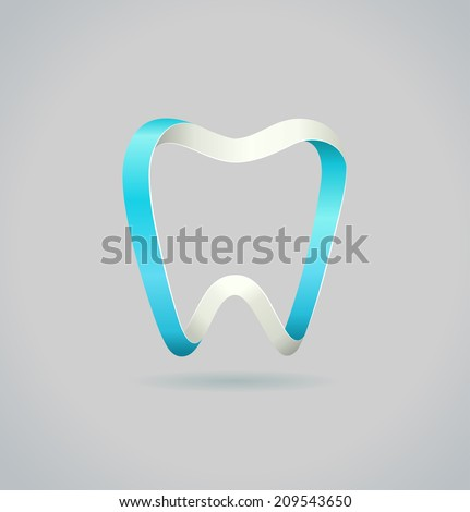 abstract tooth vector symbol