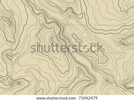 abstract topographic map in brown colors Foto stock ©