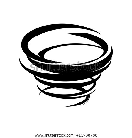 abstract tornado icon vector