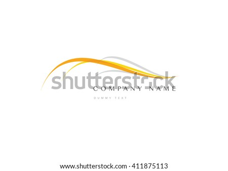 Abstract trandy curve of wave in swoosh style, vector and logo design