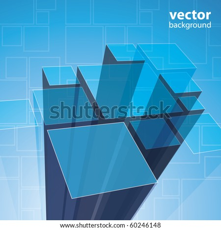 Abstract transparent blue background vector