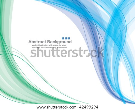 abstract transparent waves on