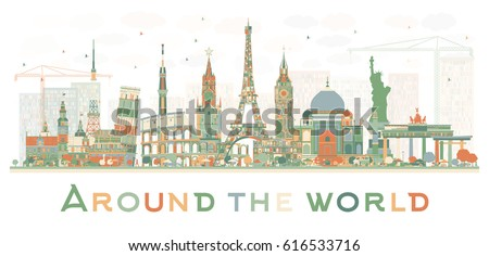 abstract travel concept around
