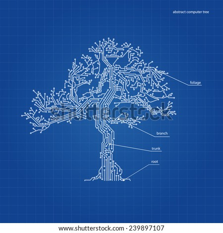abstract tree from a computer