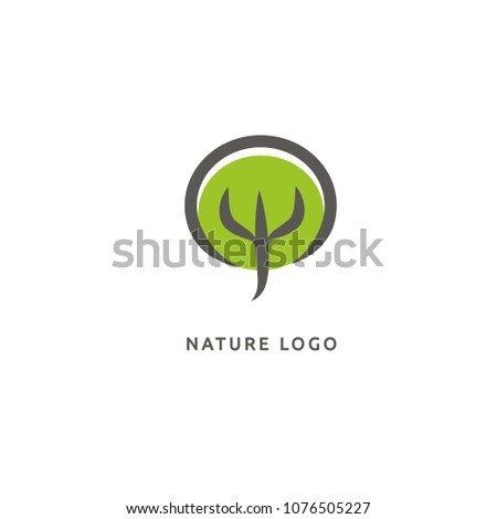 abstract tree logo icon vector