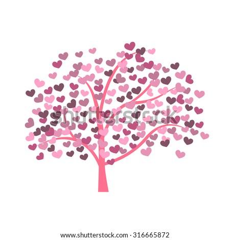 Heart tree with heart leaf ez canvas mightylinksfo