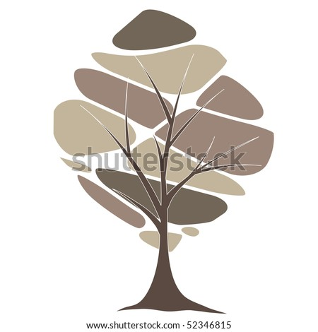 Abstract  tree . vector illustration