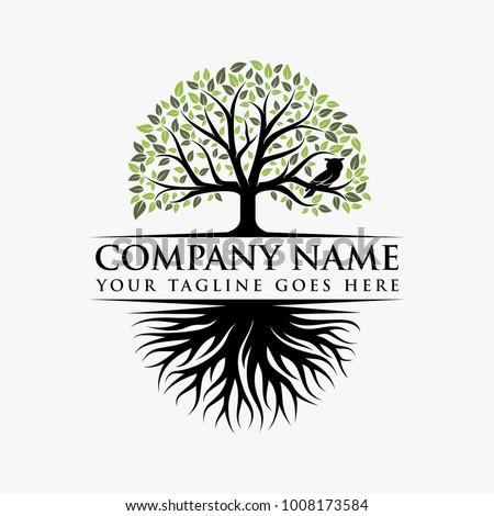 Abstract Tree, vibrant tree logo, owl tree logo design illustration