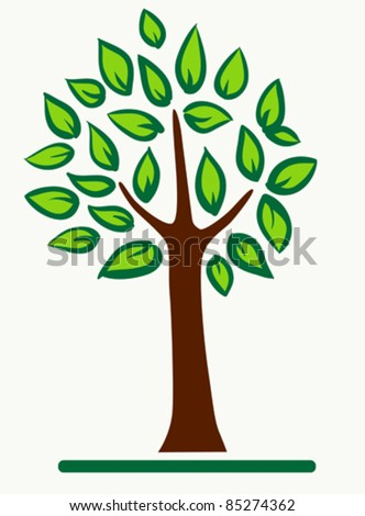 Abstract tree with green leafage