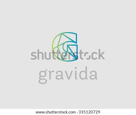 letter g logo design template download free vector art stock