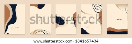 Abstract trendy contemporary organic shapes background templates. Minimalist aesthetic.  Stock foto ©