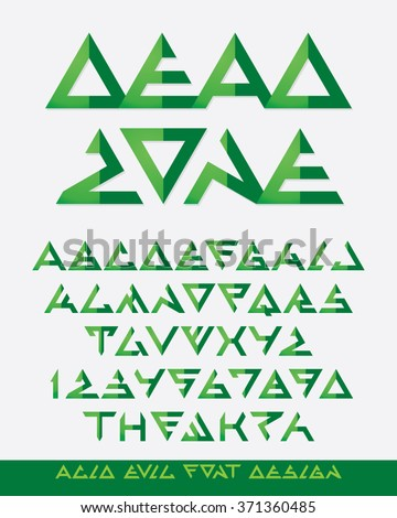 abstract triangle alien font